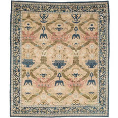 Antique Spanish Rug with Crowns