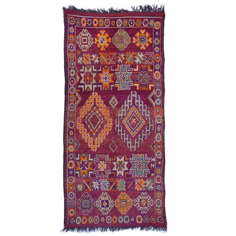 Moroccan / North African Vintage Berber Rug For Sale