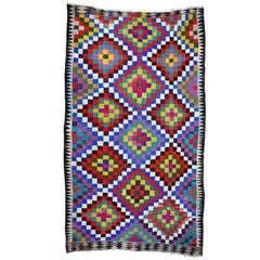 Vintage turkish cotton Kilim