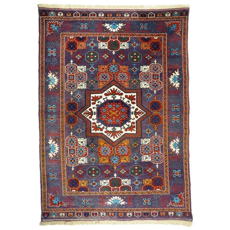 Vintage Turkish Mamluk Star Rug 1