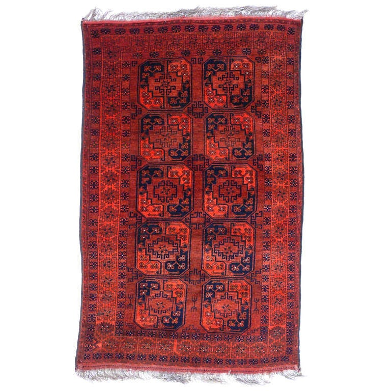Vintage Afghan Ersari Tribal Rug At 1stdibs