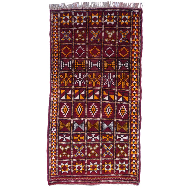 Vintage moroccan Berber rug For Sale