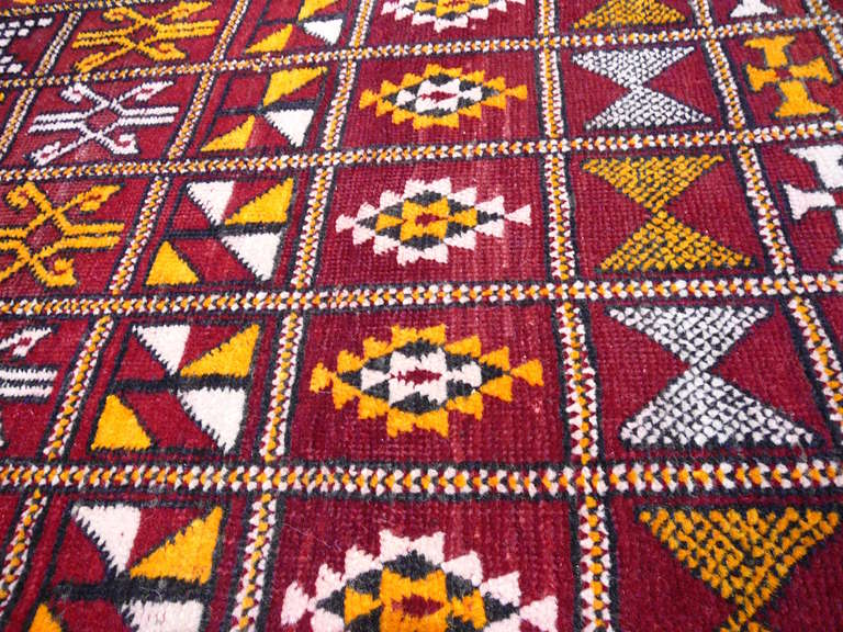 Vintage moroccan Berber rug In Good Condition For Sale In Lohr, Bavaria, DE
