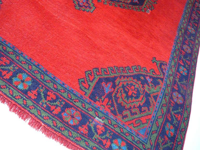 20th Century Antique Turkish Oushak Rug For Sale