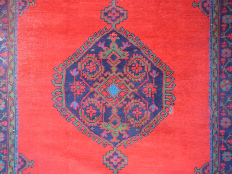 Antique Turkish Oushak Rug In Good Condition For Sale In Lohr, Bavaria, DE