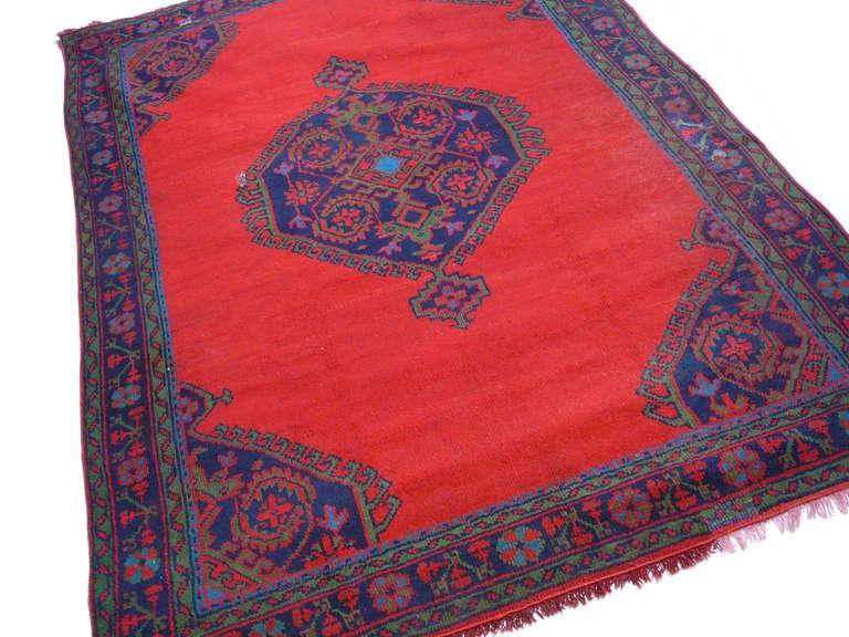 Antique Turkish Oushak Rug For Sale 1