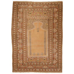 Antique Bandirma Prayer Rug