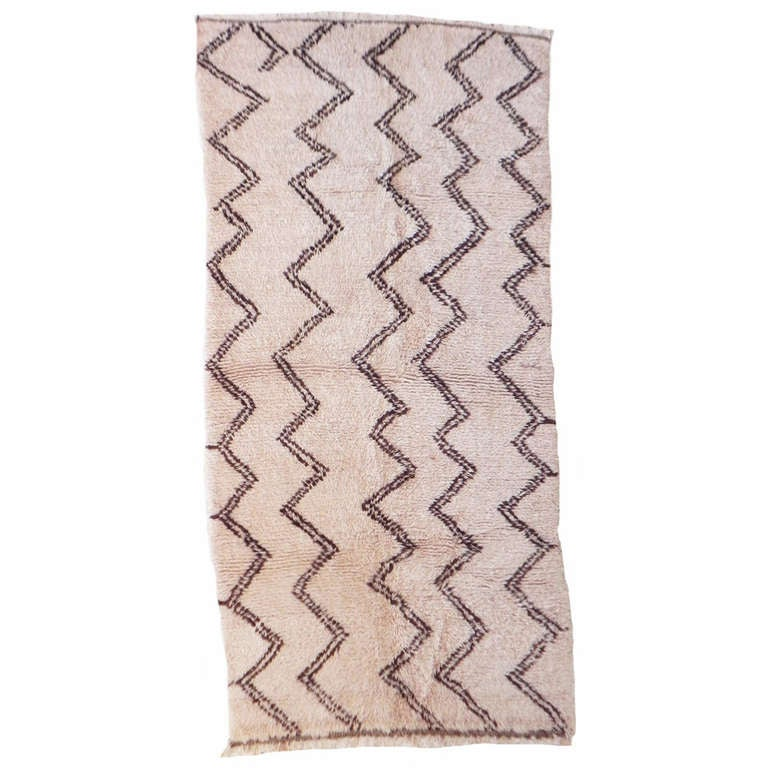 North African Tribal Berber Rug With Diamond Design For Sale At 1stdibs