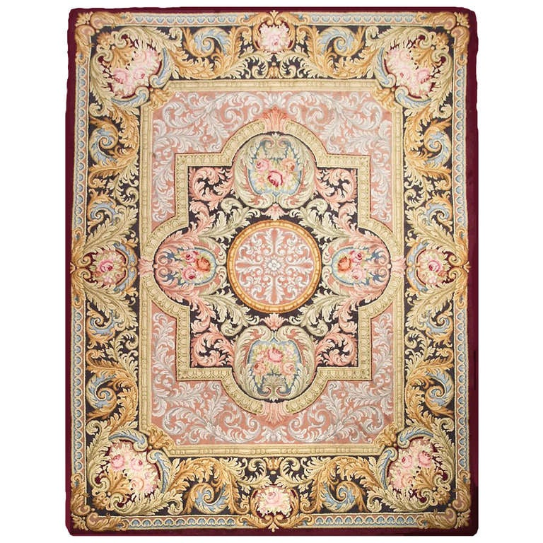 Royal Antique Spanish Savonnerie Style Rug At 1stdibs