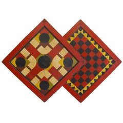 Spectacular Double Sided Gameboard / Parcheesi & Checkers
