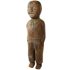 Large Folk Art Figure of Young Man with Hands in Pockets