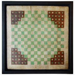 New England Painted Halma Game Board