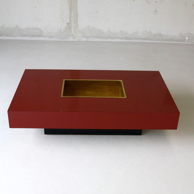Willy Rizzo Coffee Table 1972 At 1stdibs