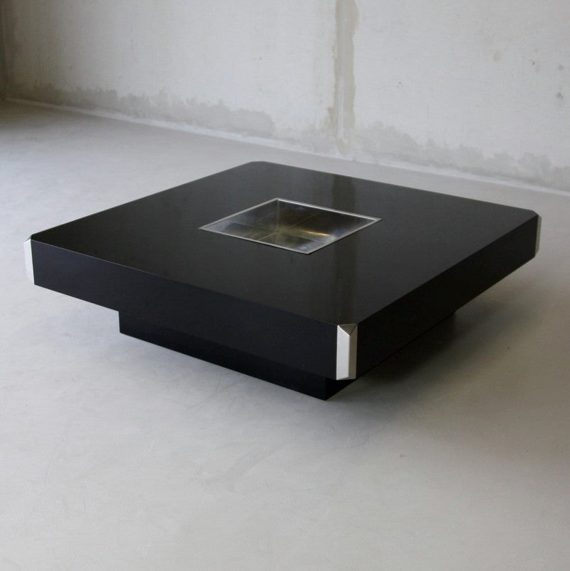 Willy rizzo coffee table sabot at 1stdibs for Table willy rizzo