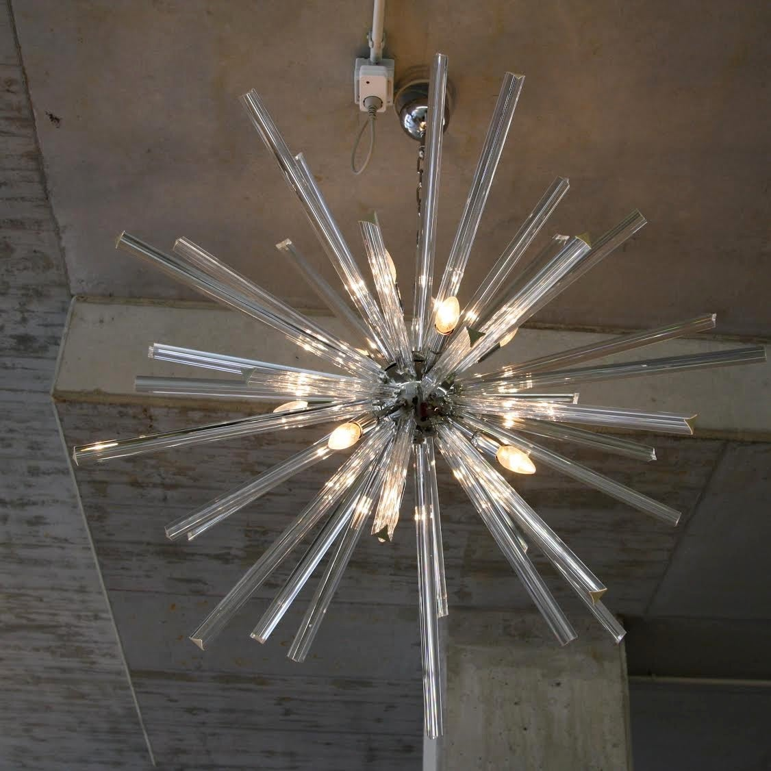 murano glass sputnik hanging lamp italy at 1stdibs