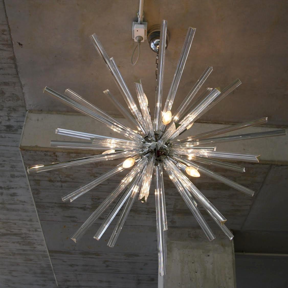 Murano glass sputnik hanging lamp italy at 1stdibs - Murano glass lighting ...