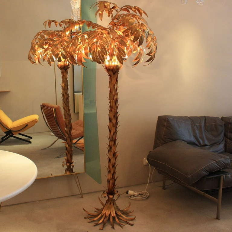 Large Metal Palm Tree Lamp 1960 S At 1stdibs