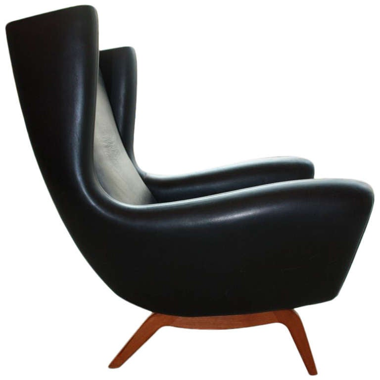 lounge chair by illum wikkelso at 1stdibs