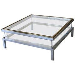 Maison Jansen Coffee Table with Sliding Top