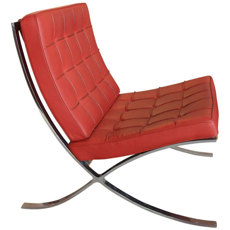 barcelona chair mies van der rohe knoll international at. Black Bedroom Furniture Sets. Home Design Ideas