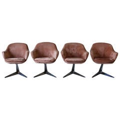 Set of Four Vladimir Kagan Style Chairs, 1970s