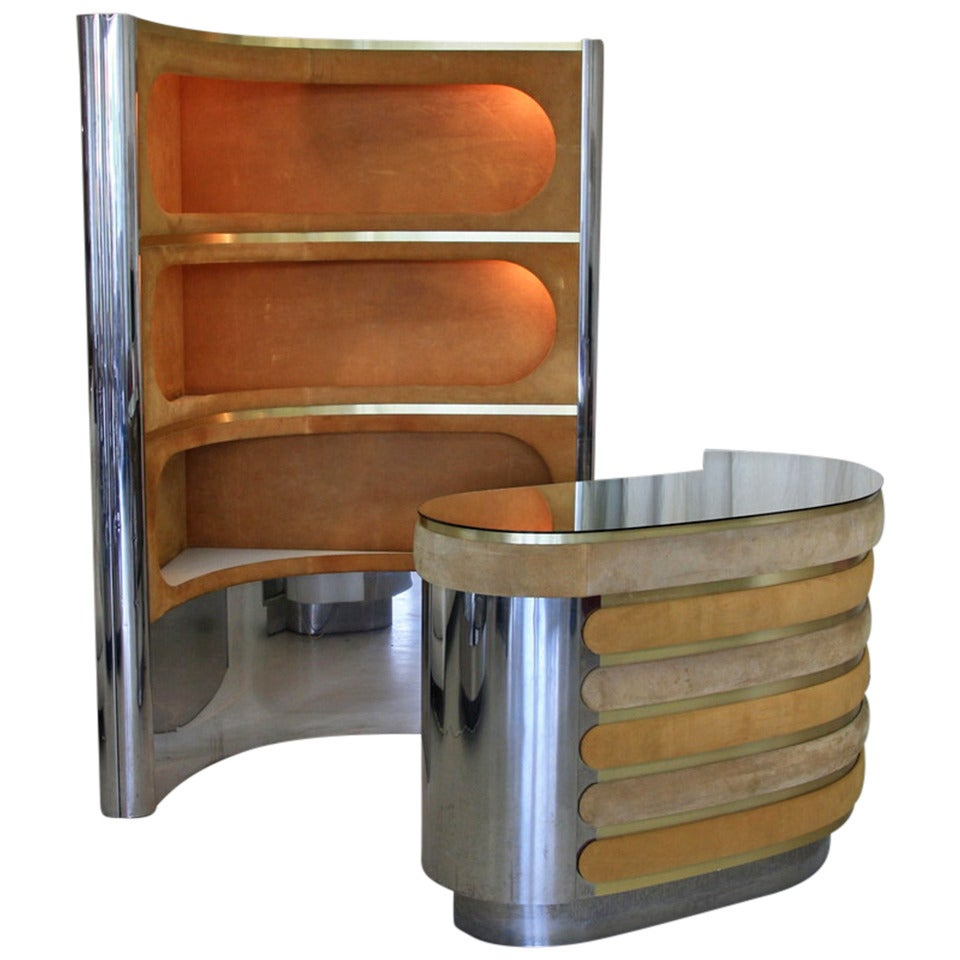1970s italian bar at 1stdibs for Home dry bar furniture