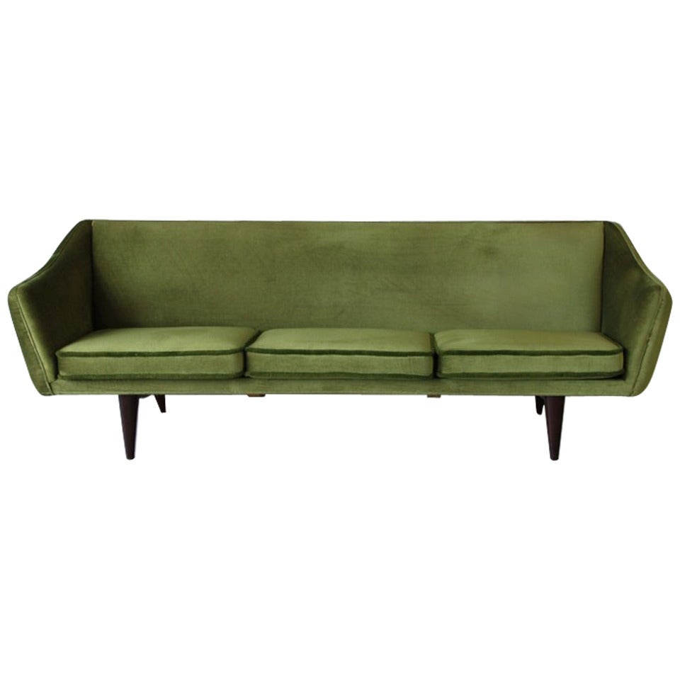 Illum Wikkels Three Seat Sofa 1950s At 1stdibs