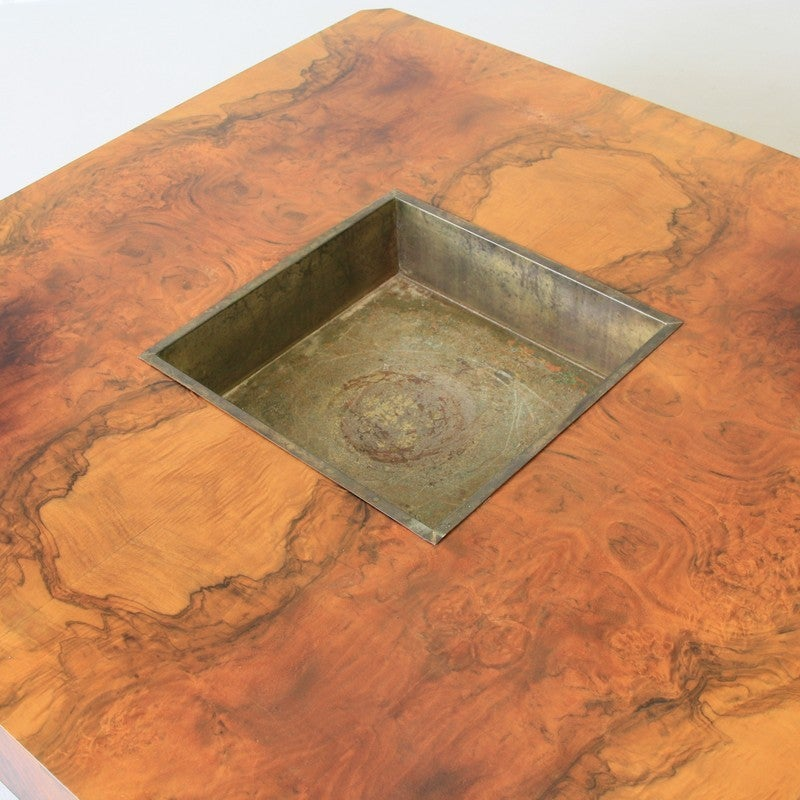 Willy rizzo square coffee table 1972 for sale at 1stdibs for Table willy rizzo