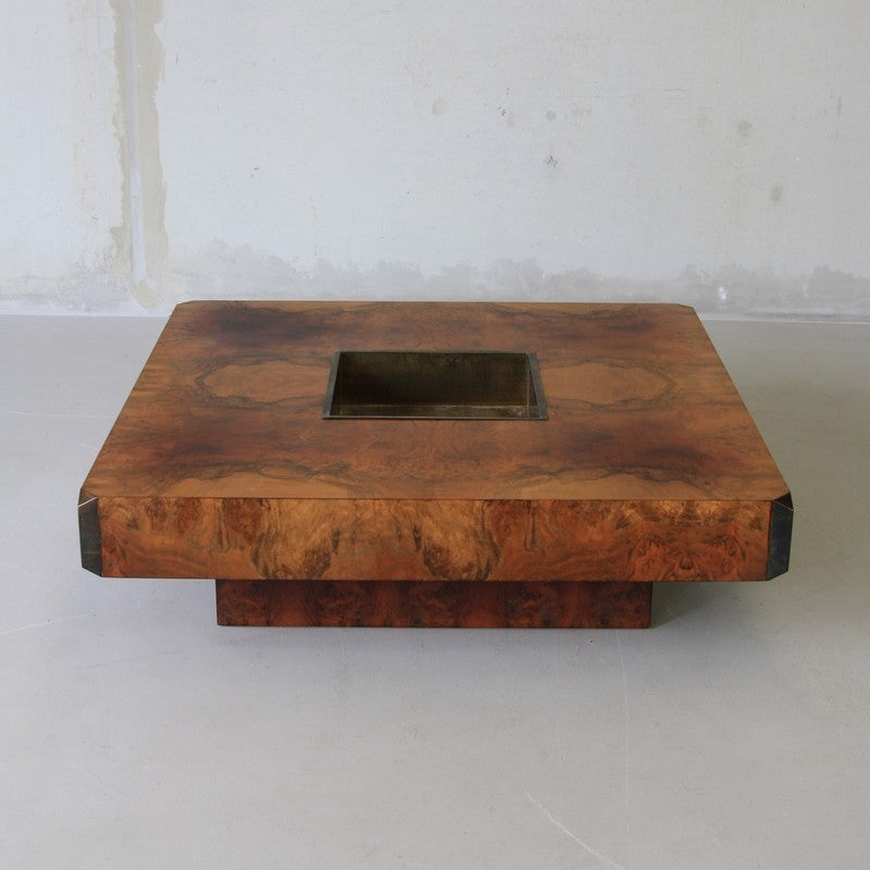 Willy Rizzo Square Coffee Table, 1972 For Sale at 1stdibs