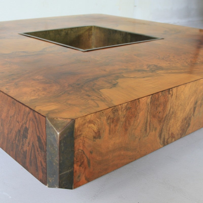 Willy Rizzo Square Coffee Table 1972 For Sale At 1stdibs