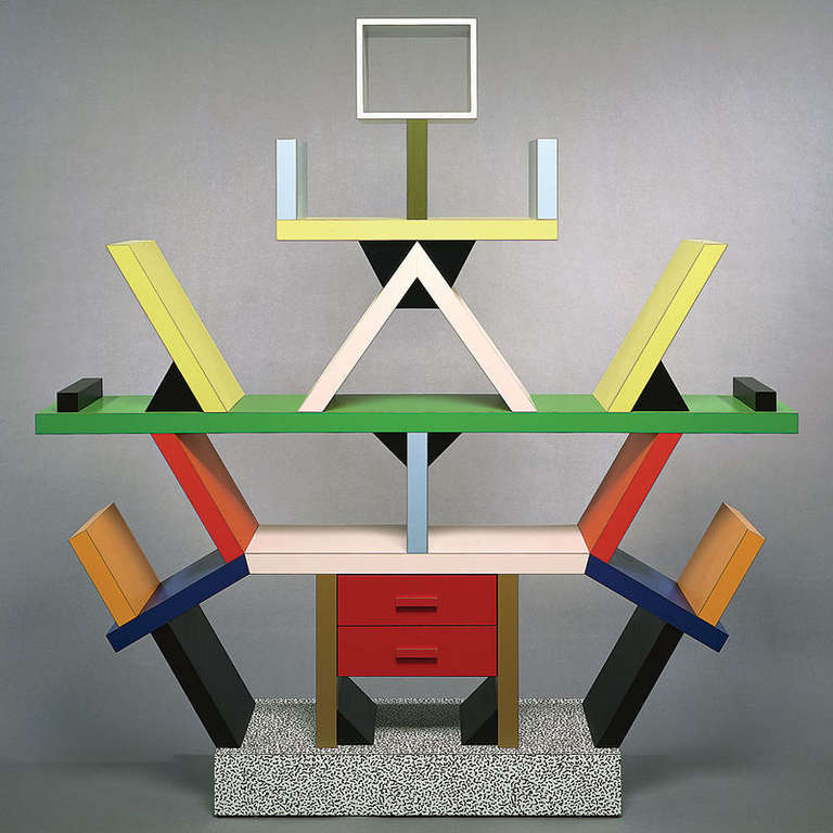 Contemporary Furniture Memphis: Ettore Sottsass, 'Carlton', 1981 For Sale At 1stdibs