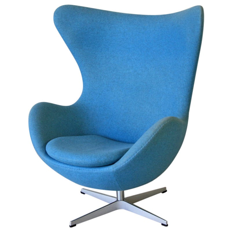 Arne jacobsen egg chair fritz hansen for sale at 1stdibs for Egg chair jacobsen