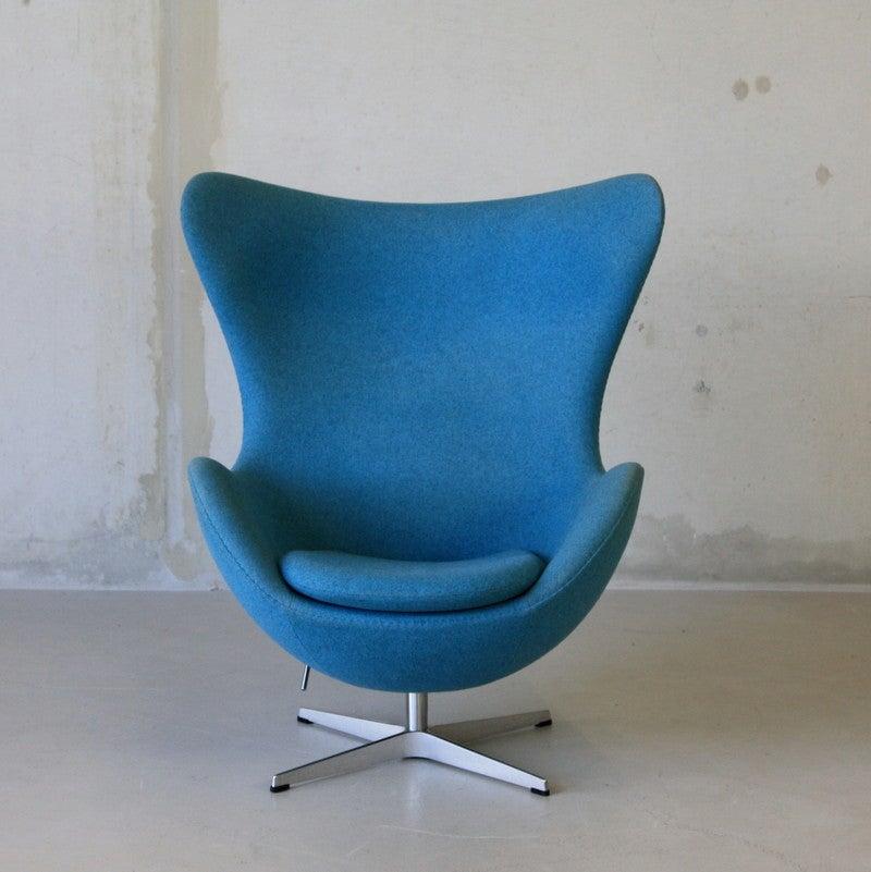 arne jacobsen egg chair fritz hansen for sale at 1stdibs. Black Bedroom Furniture Sets. Home Design Ideas