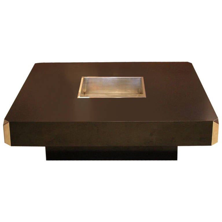Coffee Table In The Style Of Willy Rizzo At 1stdibs