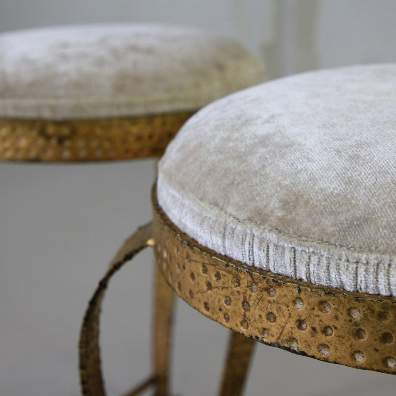 Pair Of Stools By Pierluigi Colli Italy 1950s At 1stdibs