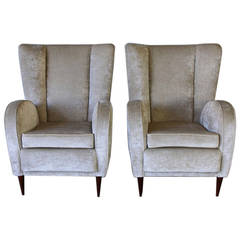 Pair of Paolo Buffa Style Longue Chairs