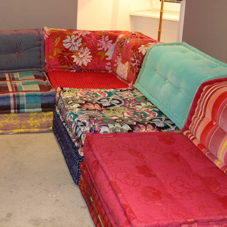 Captivating French Mah Jong Sofa By Hans Hopfer For Sale