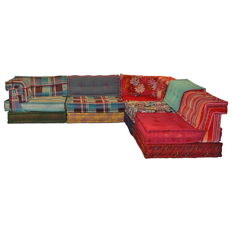 mah jong sofa by hans hopfer at 1stdibs