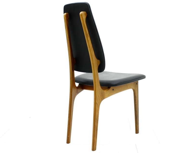Scandinavian Modern Erik Buch High Back Chair, Denmark, 1960s For Sale