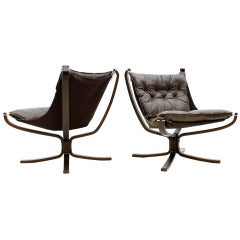 A Pair Sigurd Resell Falcon Lounge Chairs, Norway