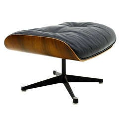 Eames Lounge Chair Ottoman, Rosewood/Black Leather, Miller/Vitra, Stool