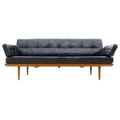 Peter Hvidt & Orla Molgaard Nielsen Daybed / Sofa, Minerva, Leather & Teak