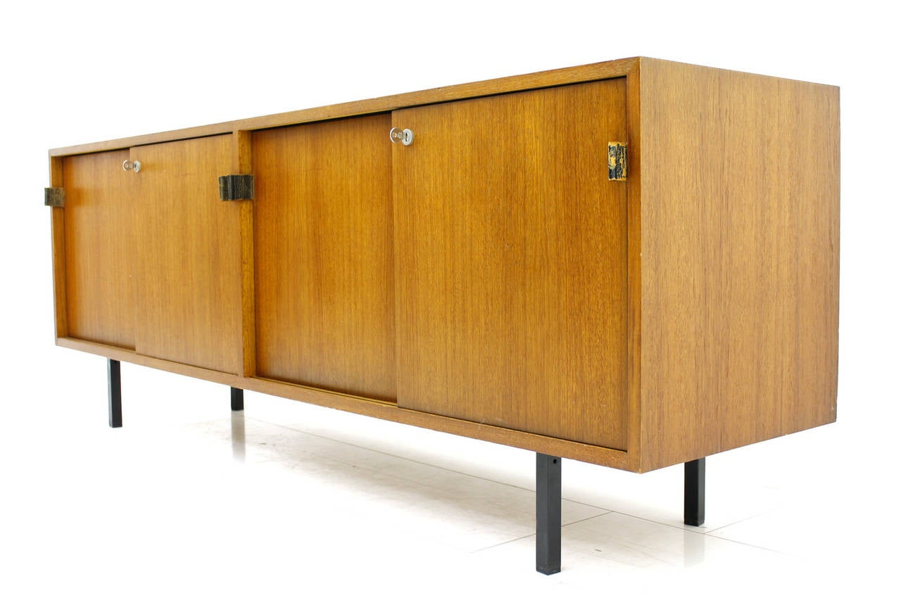 Teak Wood Buffet ~ Florence knoll teak wood credenza or sideboard at stdibs