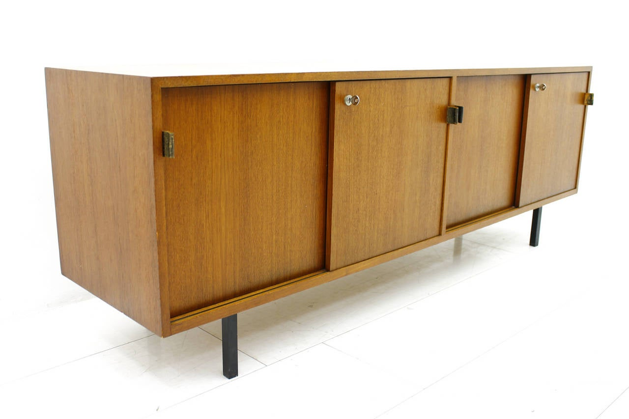 Florence knoll teak wood credenza or sideboard at stdibs