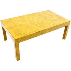 Burl wood Coffee Table, ca. 1970s