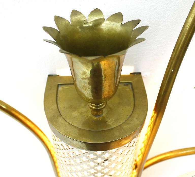 Large Flower Wall Sconces : Large Flower Wall Sconce, France Circa 1950`s at 1stdibs