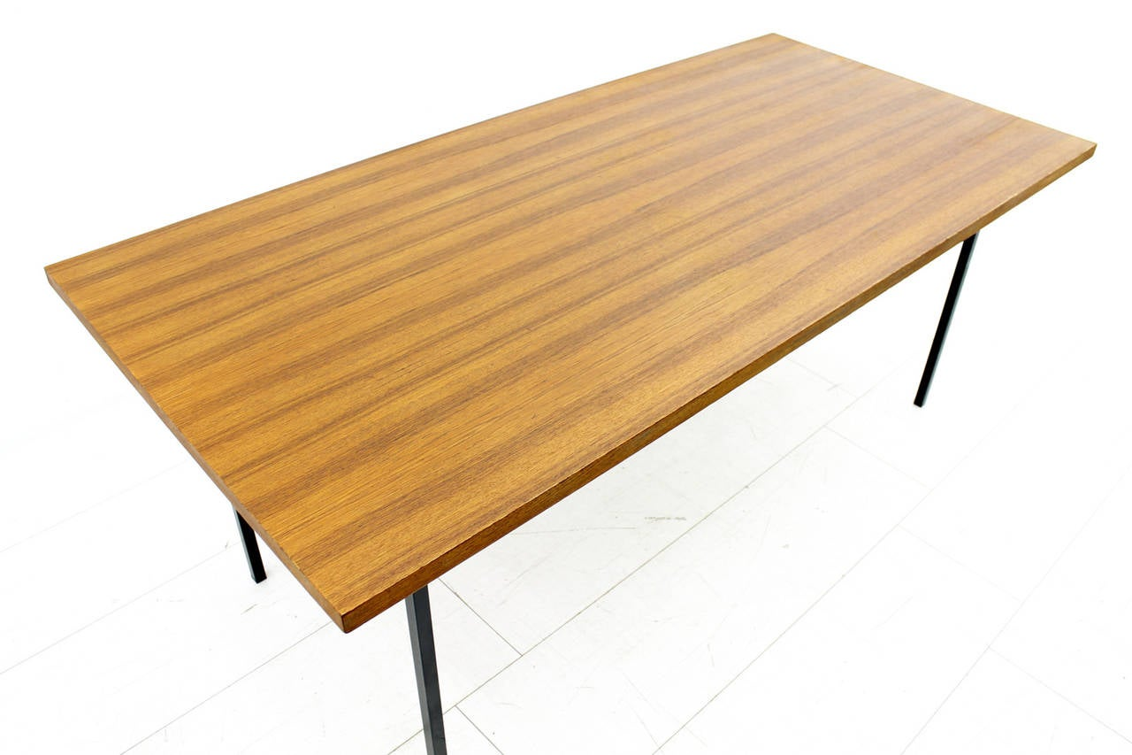 Minimalist Table Minimalist Dining Or Conference Teak Table Desk By Florence Knoll