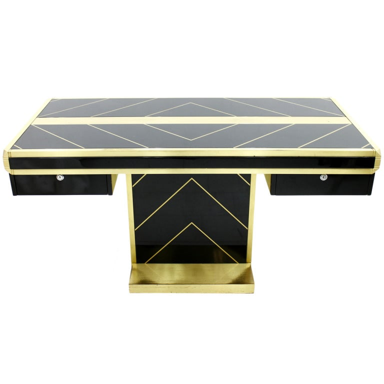 Impressive writing desk france circa 1980s at 1stdibs for 1980s furniture design