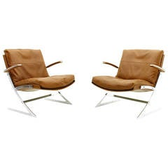 Pair of Lobby Chairs by Preben Fabricius for Arnold Exclusiv, 1972
