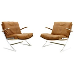 Pair of Lobby Lounge Chairs by Preben Fabricius for Arnold Exclusiv, 1972